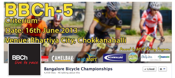 criterium bicycle road race in Bangalore