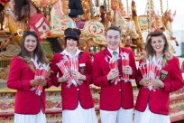 Redcoats in the fairground at Goodwood Revival