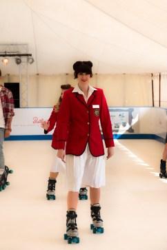 Redcoat Micheala skating at Goodwood Revival