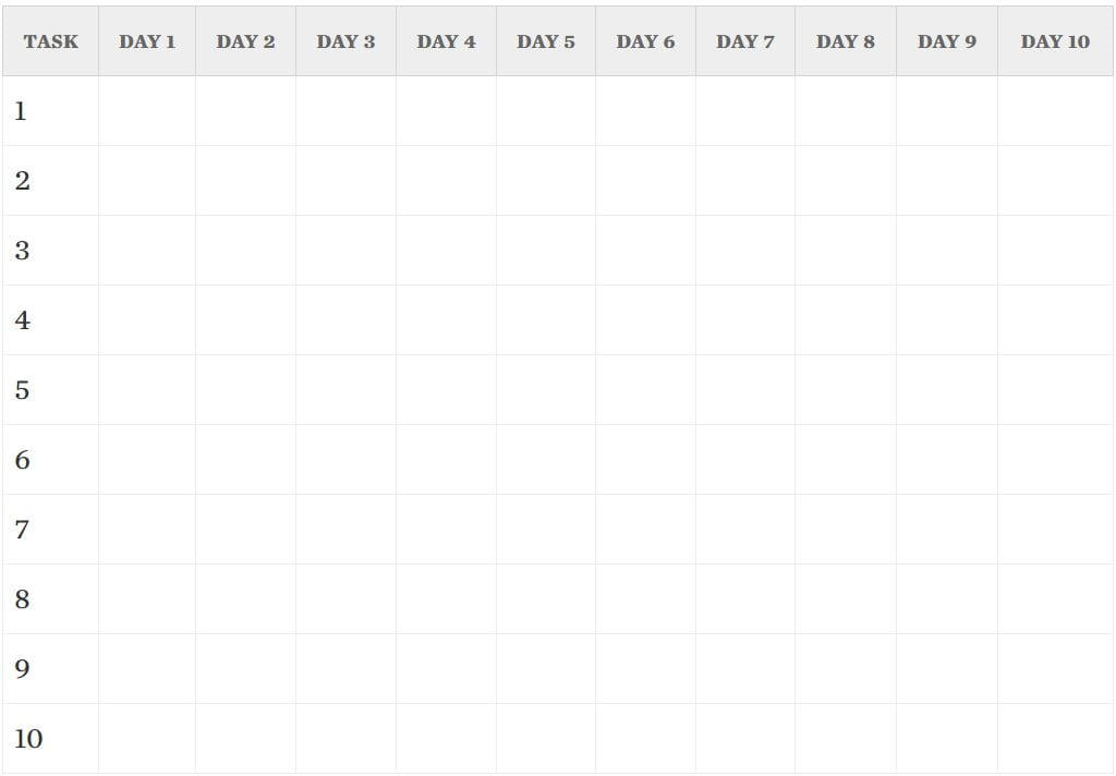 Free Gantt Chart Templates for Your Project Management Needs - Free Chart