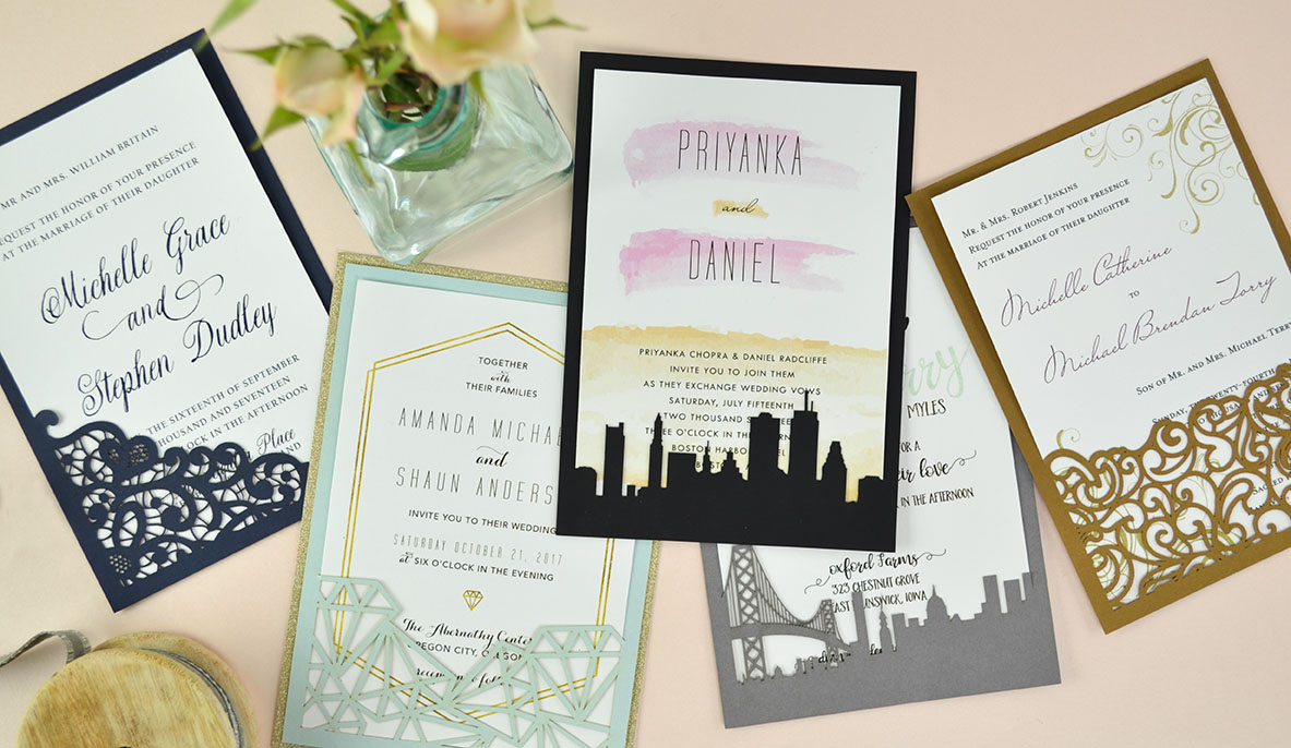 Diy Wedding Invitations With Photo How To Diy Laser Wedding Invitations With Slide In Cards Cards