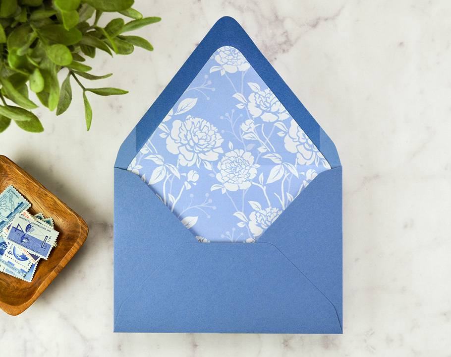 How to DIY Envelope Liners for Your Wedding Invitations - Cards