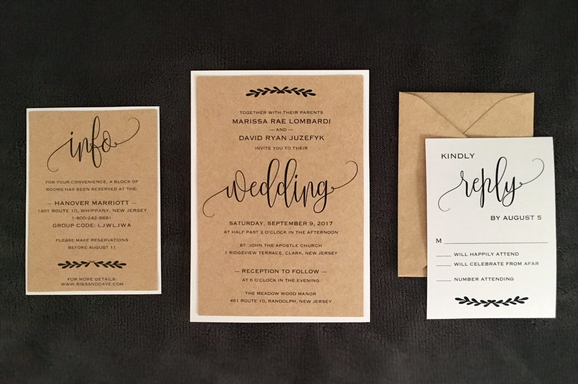 Diy Wedding Invitations With Photo My Diy Story Rustic Straw Kraft Wedding Invitation Cards