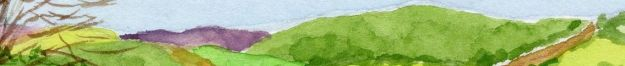"""Landscape,"" Carol Crump Bryner, gouache"