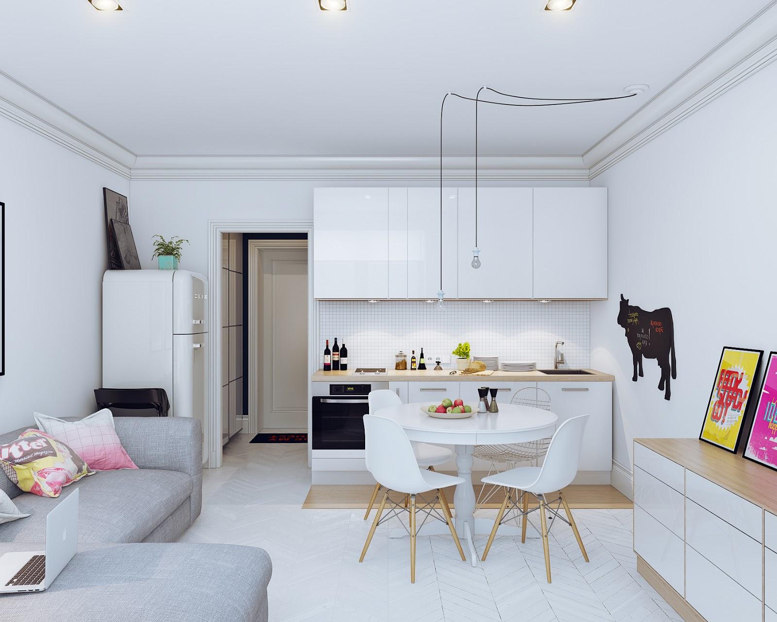 Arredare soggiorno cucina quadrato gallery of arredare for Asselle arredamenti