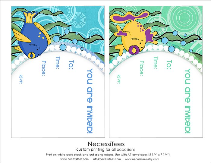 FREE Under the Sea Birthday Printables from NecessiTees Catch My Party