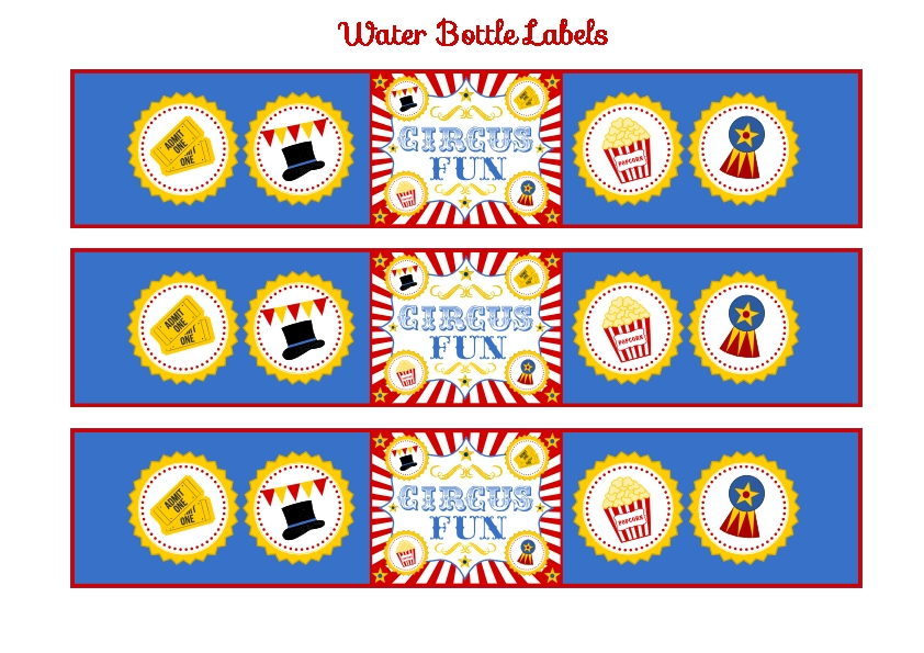 FREE Circus Birthday Party Printables from Printabelle Catch My Party - free carnival sign template