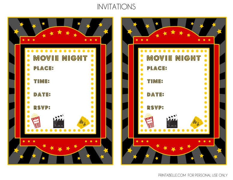 free printable movie themed birthday invitations - Onwebioinnovate - free printable movie ticket invitations