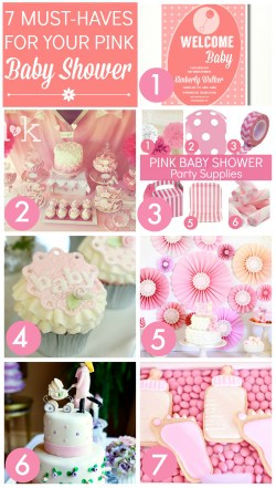Fashionable Pink Baby Shower Pin It Pink Baby Shower Ideas Catch My Party Girl Baby Shower Ideas Pinterest Girl Baby Shower Ideas Diy