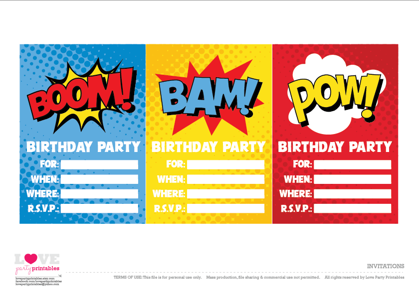 Download These Awesome Free Superhero Party Printables