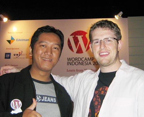 catur pw & matt mullenweg (the founding developer wordpress)