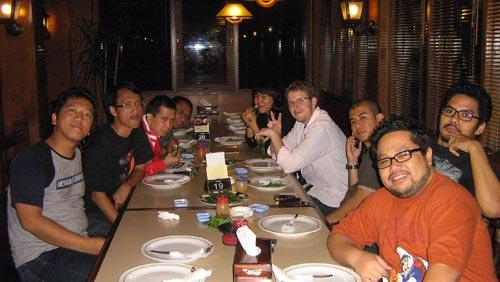 special dinner with matt (the founding developer of wordpress)