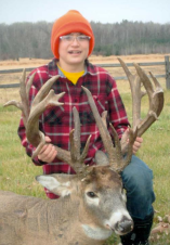 Dylan Beach-Bittner with his 27-point buck