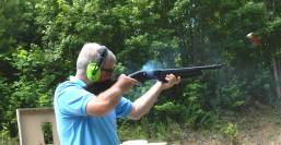 Bob Campbell shooting the Mossberg 930 shotgun with slugs