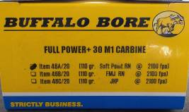 Buffalo Bore .30 Carbine ammunition box