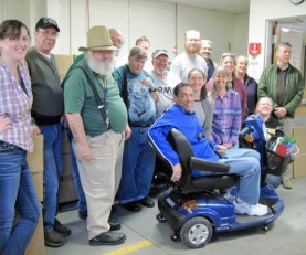 Christmas 2012 with local veterans