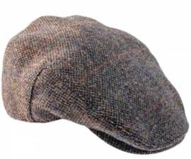 Highland Harris Tweed Flat Cap