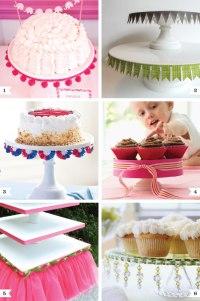 Pretty ways to dress up a cake stand | Chickabug