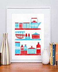 {one pretty pin} Retro kitchen art print | Chickabug