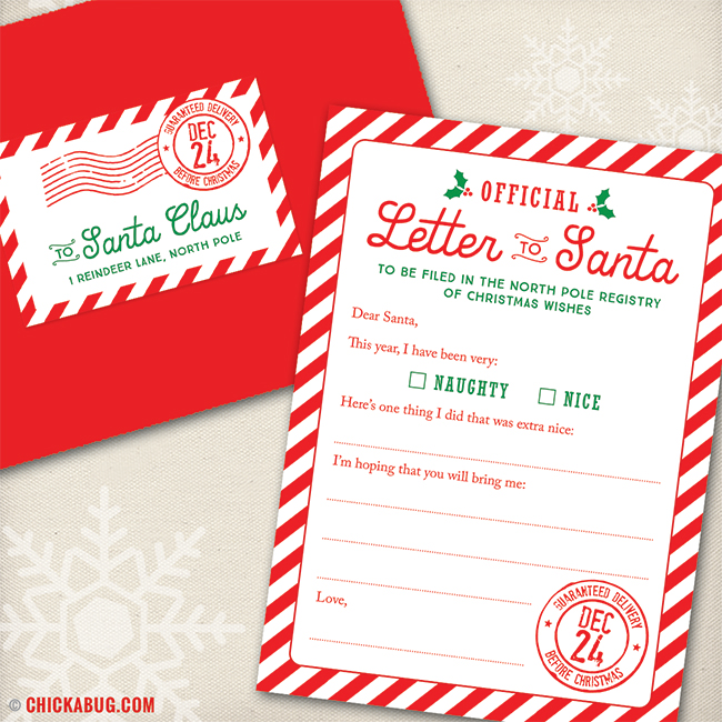 New Letter to Santa Kits are here! Chickabug