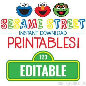 Sesame Street Birthday Printables - Including Editable Sesame Street