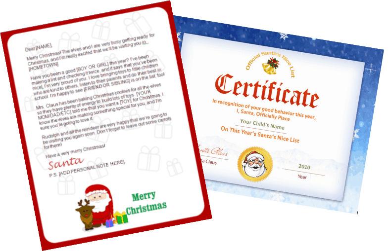 Printable Santa Letters - Santa Claus and Reindeer Design - microsoft word santa letter template