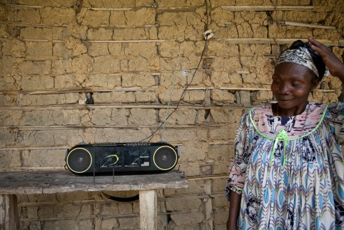 Radio remains the most dominant, affordable and accessible mass medium in Africa. Jake Lyell/Heifer International