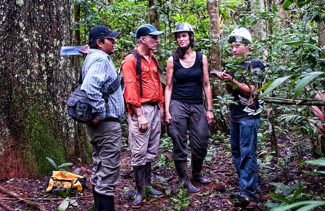 Cara Rockwell in the Peruvian Amazon. CIFOR.