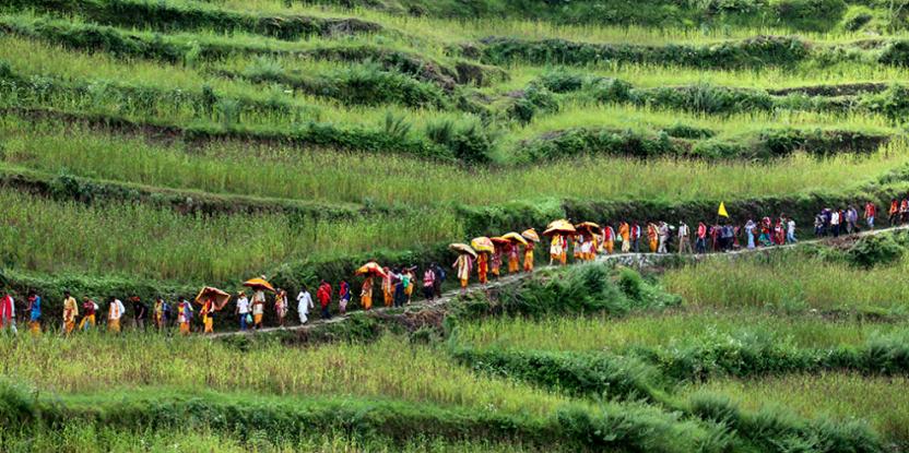 Le Forum mondial sur les Paysages, comme les approches paysagères, implique de réfléchir au-delà des disciplines et frontières traditionnelles. Photo: Mukesh Khugsal
