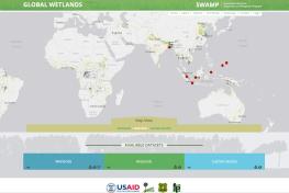 Peta global Interaktif global lahan basah memberi informasi lahan basah, histosol dan stok karbon di seluruh dunia.