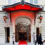 Royal Monceau Entrance Luxury Honeymoon in Europe