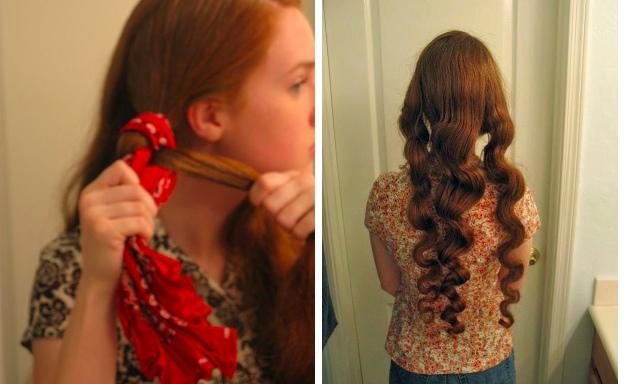 Arricciare i capelli in modo naturale