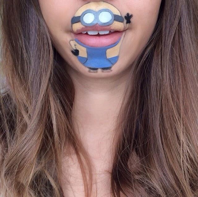 c- Tra makeup e pop art: la bocca di Laura Jenkinson è un cartone animato