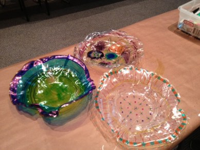 Finished replicas of Dale Chihuly's Macchia Series.