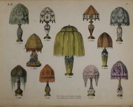Album de lampes électriques, plafonniers et tulipes en émaux translucides vitrifiés. Paris, 1920-1940. Bib ID 75926.
