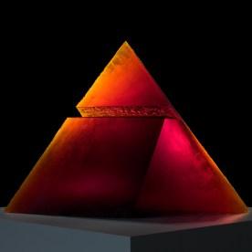Red Pyramid, Stanislav Libensky and Jaroslava Brychtova, Czech Republic, Zelezny Brod, 1993. H: 83.4 cm, W: 119.3 cm, D: 28.2 cm. (94.3.101, gift of the artists)