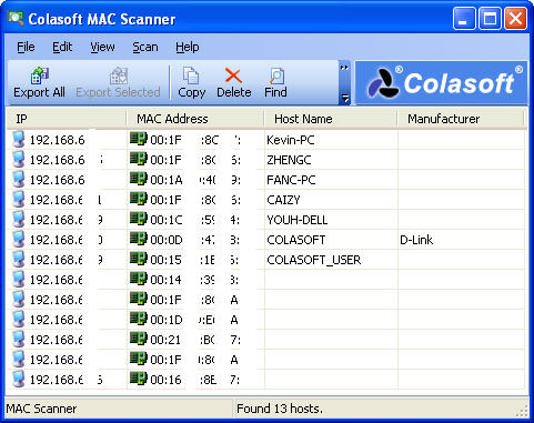 How to Find MAC Address with Colasoft MAC Scanner and More