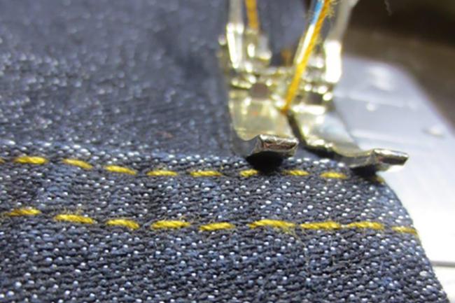 How to hem Jeans, with Bernina Colette Blog
