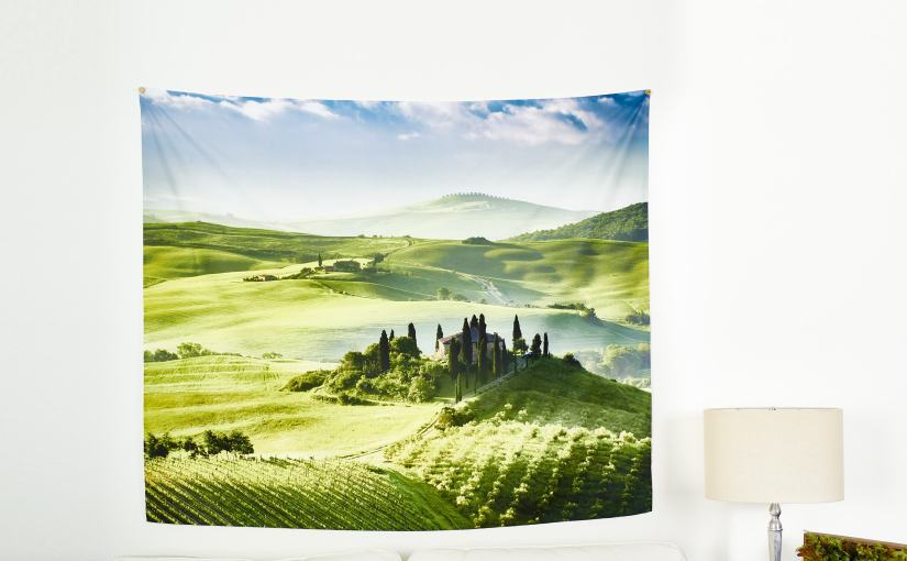 Add color to any wall with new custom photo tapestries