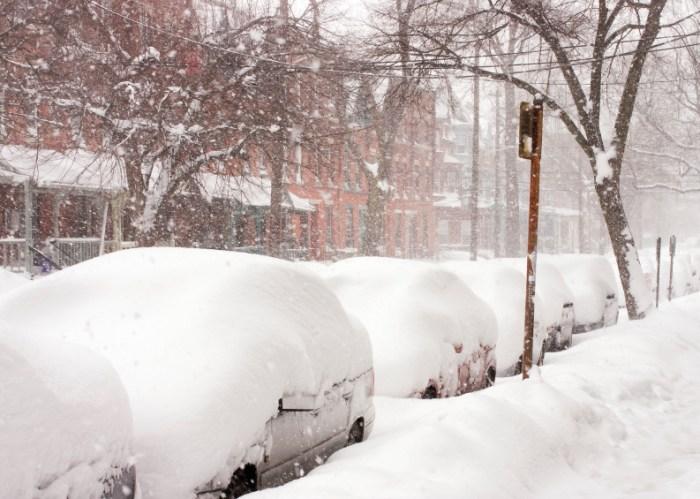 Snow blizzard on the east coast