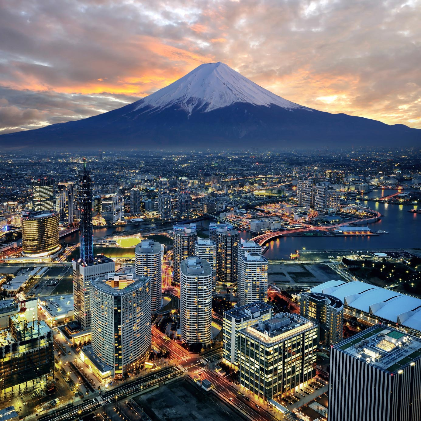 Yokohama and Mt. Fuji