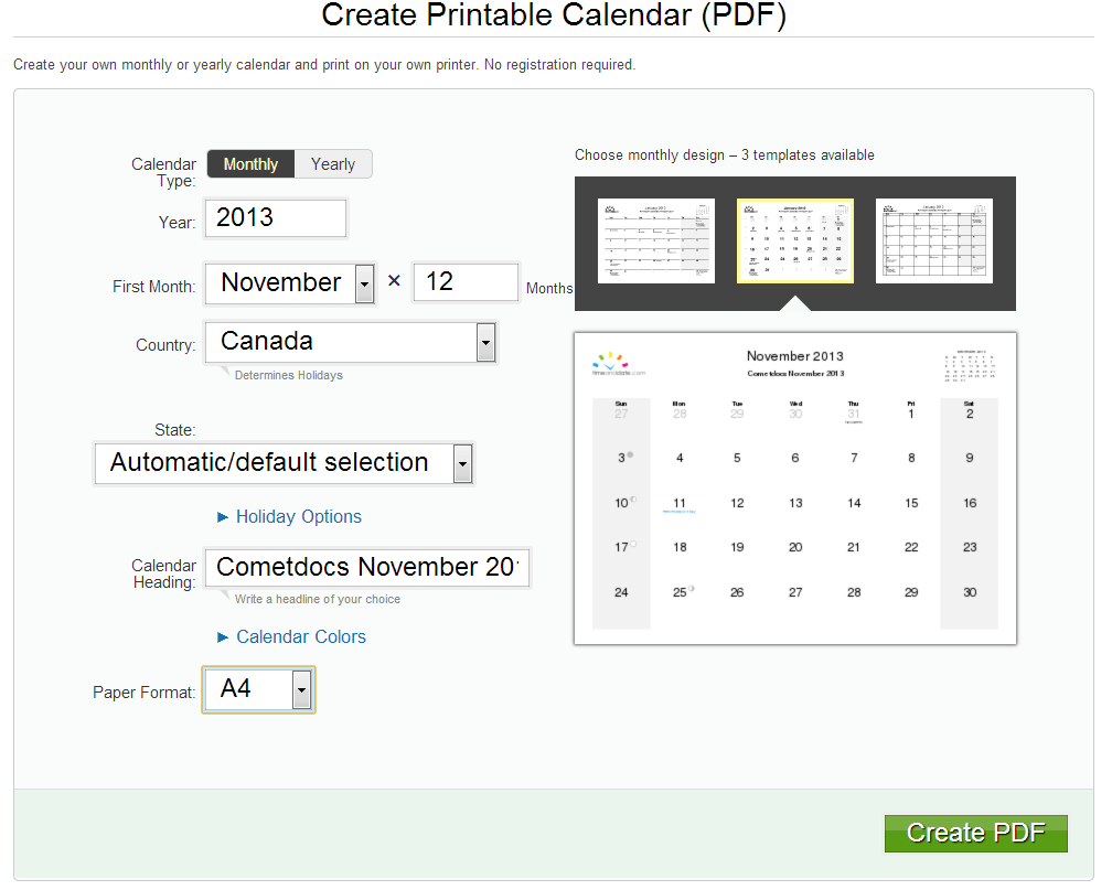 Create Online Calendar With Reminders Marktheday Calendar Email Reminder Service Holiday How To Create A Pdf Calendar Online