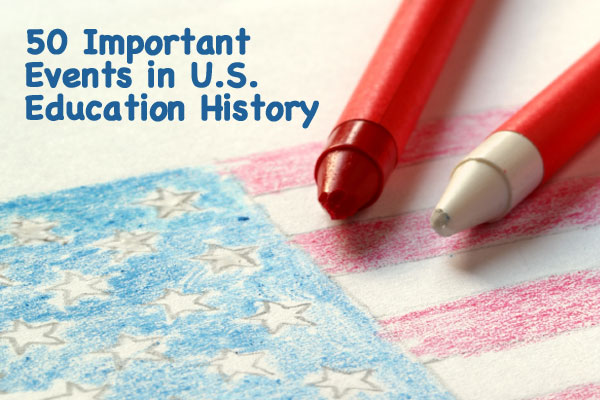 50 Facts and Events in US Education History Connections Academy