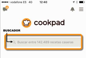 Buscador de recetas en Cookpad