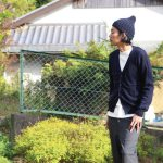 カーディガン男子 『MASTER & Co.(マスターアンドコー) WHOLE GARMENY WASHABLE KNIT CARDIGAN』