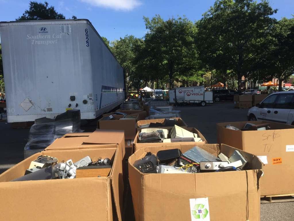 Trucks and trash
