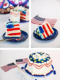 4th of July DIY: Red, White, and Blue Cake