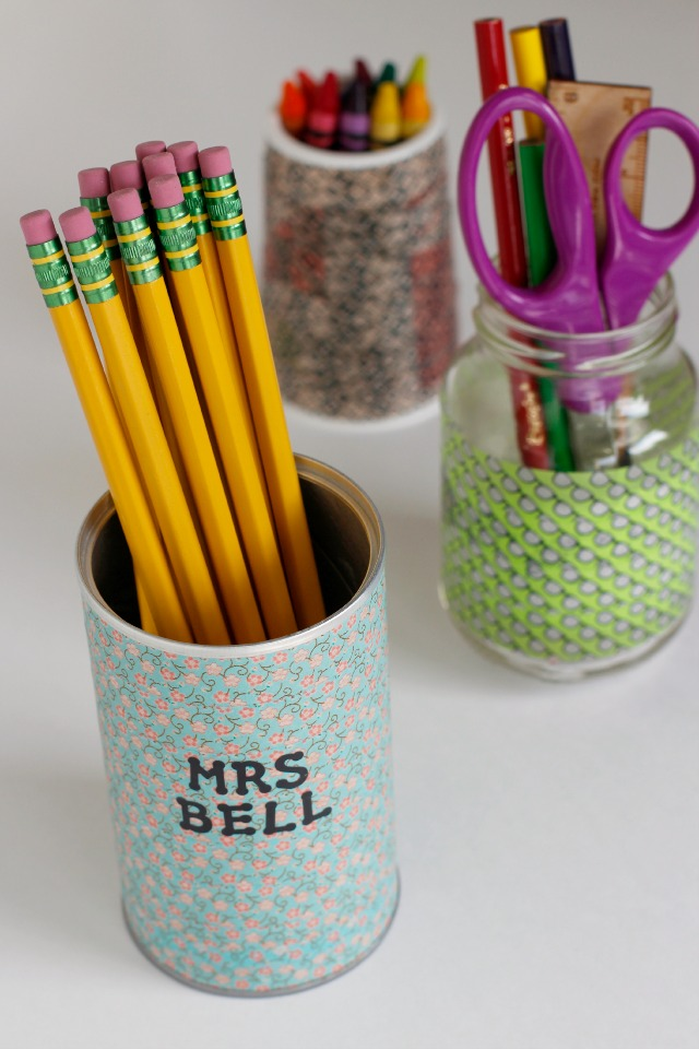 Washi Tape Diy Washi Tape Idea: Diy Pencil Holders For Back-to-school