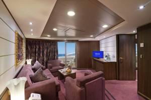 MSC Preziosa Royal Suite seating area