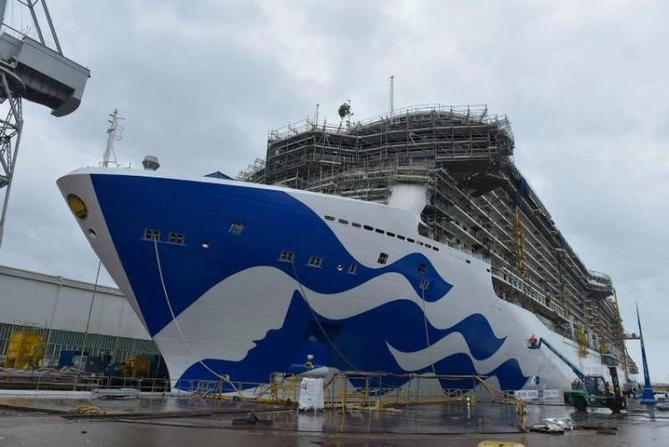 Princess cruises new hull design on Majestic Princess
